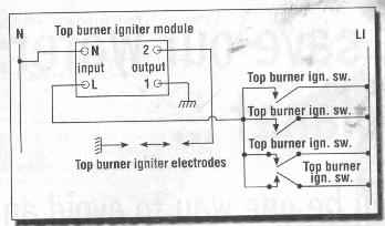 typical gas stove electric ignition wiring diagram